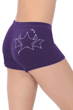 The Zone - Shorts Samt Galaxy violett