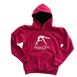 Kids College Hoodie Pink by Turnstern