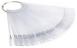 Präsentaions Stick Display am Ring mit 50 Tips transparent