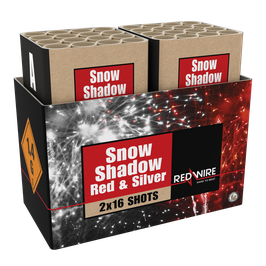 Snow  Shadow - Red and Silver