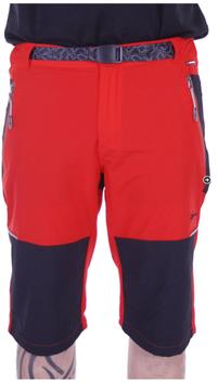 Pantalones Hombre tipo Pirata Trekking  Rojo combinado Negro
