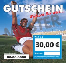 Gutschein im Wert von 30,00 €
