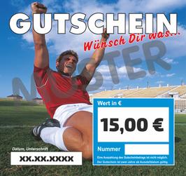 Gutschein im Wert von 15,00 €
