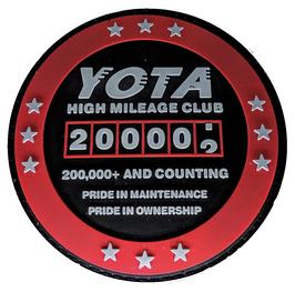 """2019 200K High Miles Patch PVC 3D Edition 3"""""""