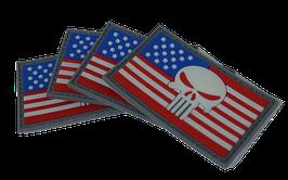 """FJ Cruiser Punisher Gray Color Flag Velcro Back 2x3"""""""