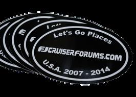 "FJ Forum Black Oval 4"""