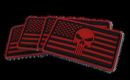 """FJ Cruiser Punisher Black Red Flag Velcro 2x3"""""""