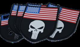"""FJ Cruiser USA Skull Flag PVC 3D 3"""""""