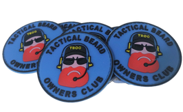 "FJ Cruiser Beard Patch PVC 3D Velcro Back 2.25"""
