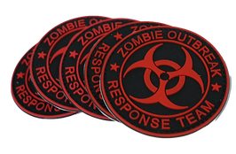 "FJ Cruiser Red Zombie Patch - PVC 3D Velcro Back 3"""