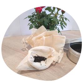 Sachet de thé lavable en Coton biologique