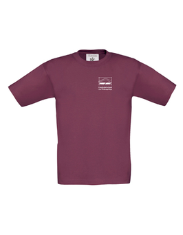 T-Shirt - Farbe: weinrot