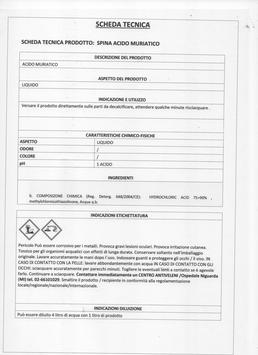 ACIDO MURIATICO TANICA litri 5