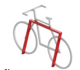 Ciclopark Fahrradhalterung Mod 30.D