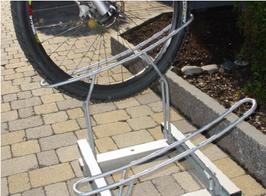 Fahrradhalter aus Stahl Verzinkt H23-24
