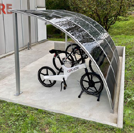 Fahrradüberdachung Modell EVO 300BM - CICLOPARK  HOME