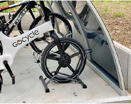 Fahrradhalter aus Stahl verzinkt H 11.H