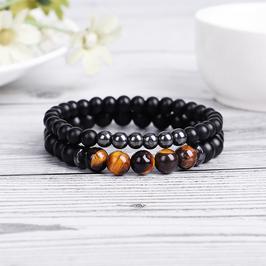 Bracelets Hématite - Oeil de tigre