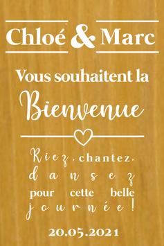 Stickers Panneaux de bienvenue mariage - Collection Classique Chic