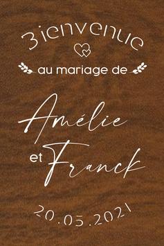 Panneau de bienvenue mariage en bois - Collection Coeur