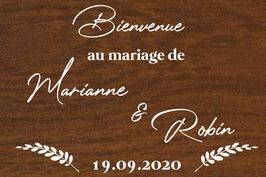 Panneau de bienvenue mariage en bois - Collection Nature Chic