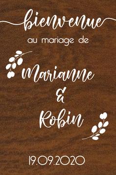 Panneau de bienvenue mariage en bois - Collection Nature Champêtre