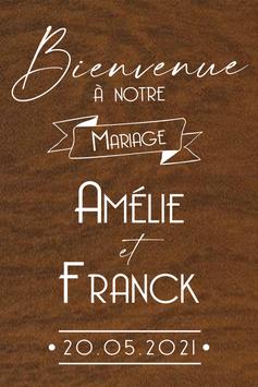 Panneau de bienvenue mariage en bois - Collection Annonce Vintage