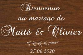 Panneau de bienvenue mariage en bois - Collection Eucalyptus