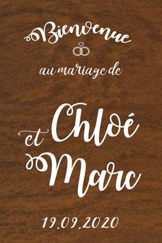 Panneau de bienvenue mariage en bois - Collection Alliances
