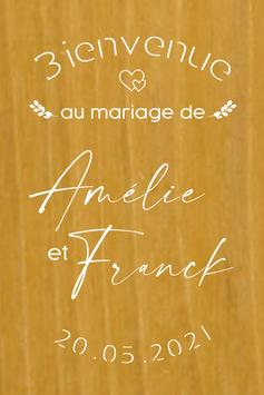 Stickers Panneaux de bienvenue mariage - Collection Coeur