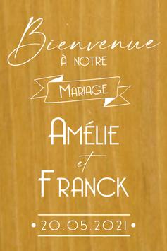 Stickers Panneaux de bienvenue mariage - Collection Annonce Vintage