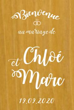 Stickers Panneaux de bienvenue mariage - Collection Alliances