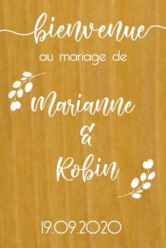 Stickers Panneaux de bienvenue mariage - Collection Nature Champêtre