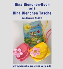 BINA BIENCHEN KINDERBUCH + UMHÄNGETASCHE MIT BINA BIENCHEN BLÜTE