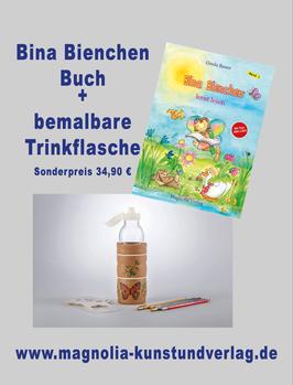 BINA BIENCHEN KINDERBUCH + TRINKFLASCHE