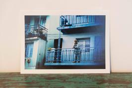 Bleu malgache - 18 x 27 cm
