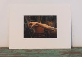 Au bout du jour - 12 x 18 cm (Fenêtre 11 x 16 cm)