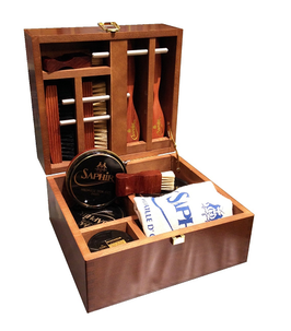 "MEDAILLE D'OR wood ""Shoemaker""  box - 22,5 x 20,5 x 13,5 cm - SAPHIR"