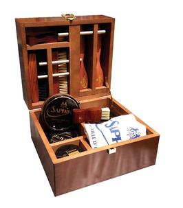 "MEDAILLE D'OR wood ""Shoemaker""  box - 22,5 x 20,5 x 13,5 cm - SAPHIR"