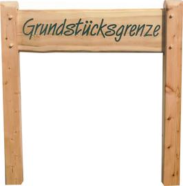 Holzschildersystem Schwartenbrett aus Lärchenholz