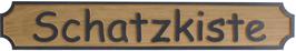 Bootsschild aus Eichenholz