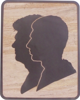 """"""" Scherenschnitt """" Portrait aus Holz"""