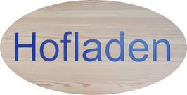 Ovales Holzschild