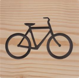 Holschild mit Fahrradlogo
