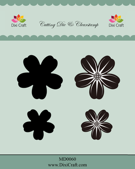 "Stamp & Die Cut ""Flowers #1"" - Dixi Craft"