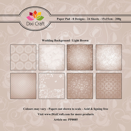 Wedding Background Paperpad 6x6 - Dixi Craft