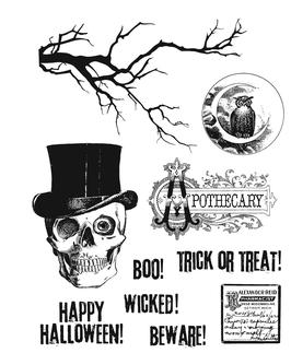"Rubberstamp ""Mr. Bones"" - Stampers Anonymous (Tim Holtz)"