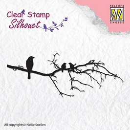 "Clearstamp ""Branch With Birds"" - Nellies Choice"