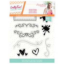 Crafty Fun Accents & Frames, Clearstamps - Crafter's Companion