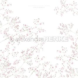 "Designpapier ""Schleierkraut Rosa"" - Alexandra Renke"